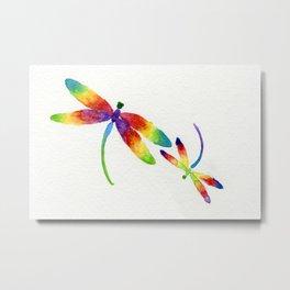 Little Rainbow Dragonflies Metal Print