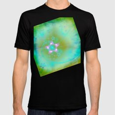 Magical Flowers Glow From Within Mens Fitted Tee MEDIUM Black