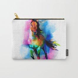 Paint blot geometric horse illustration Carry-All Pouch