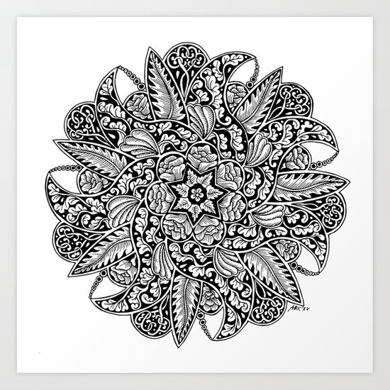 Ornament mandala Art Print