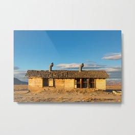 Derelict shack. Metal Print