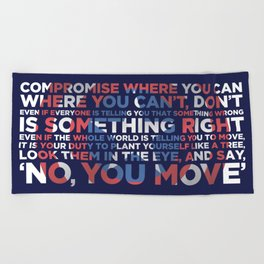 Civil War Quote Beach Towel