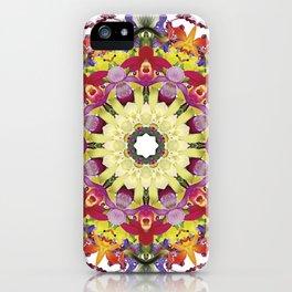 Abundantly colorful orchid mandala 1 iPhone Case