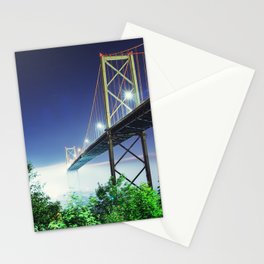 Spanning The Foggy Harbour Stationery Cards