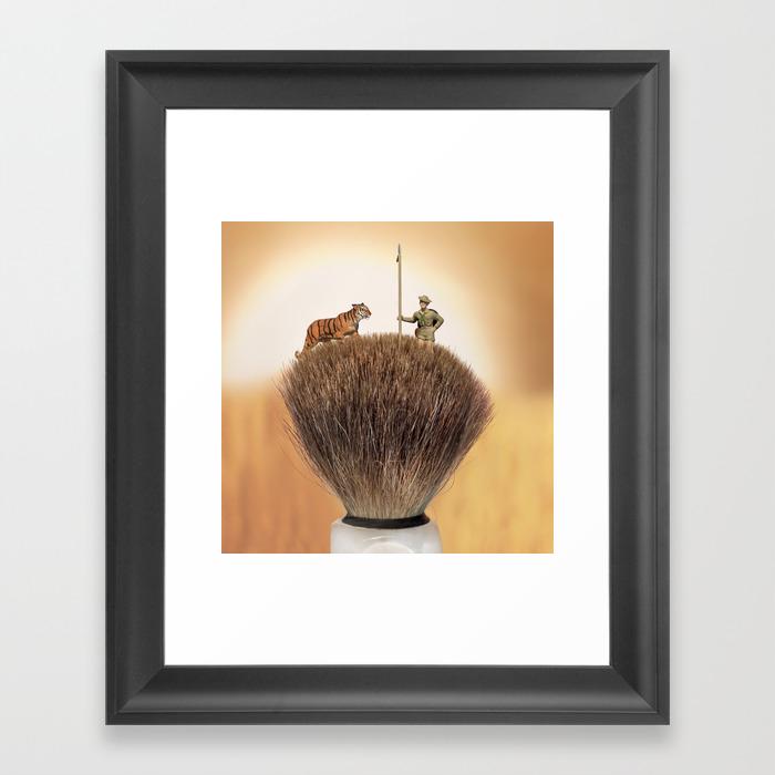 Shaving Brush Savanna Framed Art Print by Wkass FRM9029208