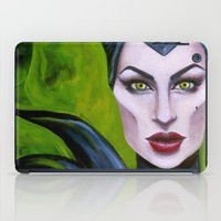 maleficent iPad Cases featuring Maleficent by Megan Mars