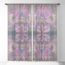 Abstract Blossom Sheer Curtain