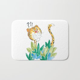 Spots, your tail is up! Bath Mat