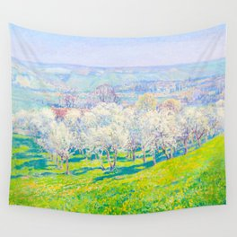 Václav Radimský (1867-1946) Blooming orchard Modern Impressionist Oil Painting Colorful Bright Wall Tapestry