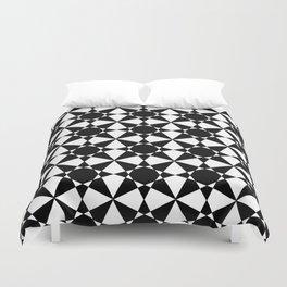 black and white symetric patterns 3- bw, mandala,geometric,rosace,harmony,star,symmetry Duvet Cover