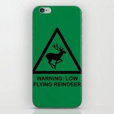 Warning: Low Flying Reindeer iPhone & iPod Skin