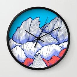The Ice White Rocks Wall Clock