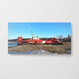 Hovercraft in Town Metal Print