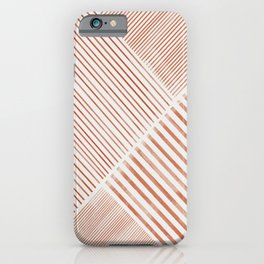 Blush Pink Stripes, Geometric Art iPhone Case