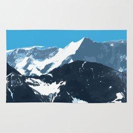 swiss mountains Rug
