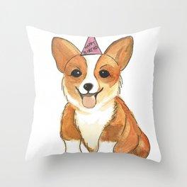 Corgie Birthday Throw Pillow