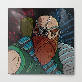 Cyberpunk Dwarf Metal Print