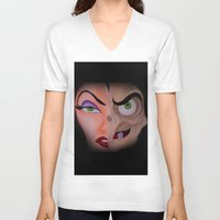 evil queen V-neck T-shirts featuring Evil Queen by Jgarciat