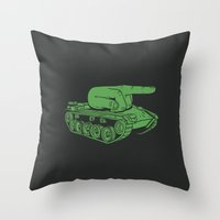 war Throw Pillows featuring @#$% WAR! by Madkobra
