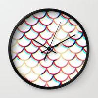 koi fish Wall Clocks featuring Koi Fish by JoanaRosaC