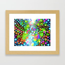 evolutionary psychedelic interdimensional light beings Framed Art Print