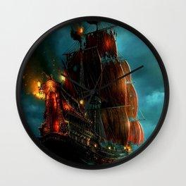 Pirates on sea Wall Clock