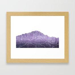 Colorado Mountain Ranges_Pikes Peak Framed Art Print