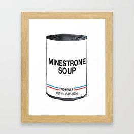 29 Minestrone Framed Art Print