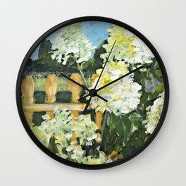 Pam's Hydrangeas Wall Clock