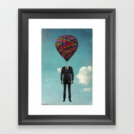 balloon man Framed Art Print