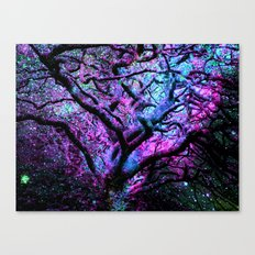 Mystic Tree of Knowledge Pink & Blue Canvas Print