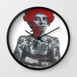 The tattooed girl Wall Clock