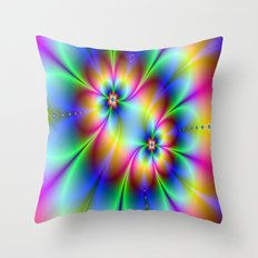 Flowers and Flowers Throw Pillow