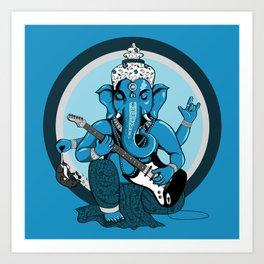 Ganesha rocks ! (v1) Art Print