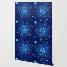 Vivid Blue gALaxY Stars Wallpaper