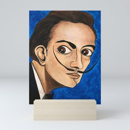 Salvador Dalí portrait Mini Art Print
