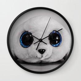 Huggable photogenic seal Wall Clock