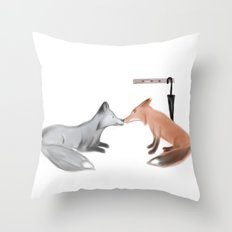 Fox!Mystrade Throw Pillow