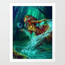 The legend of Mermaid Art Print