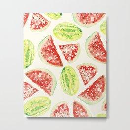 Watermelon Pattern I Metal Print