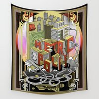metropolis Wall Tapestries featuring Metropolis  by KRNago