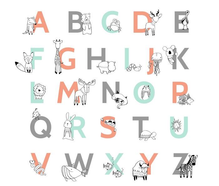 Animal Alphabet Metal Travel Mug