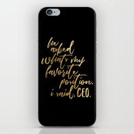 Feminist Quote iPhone Skin