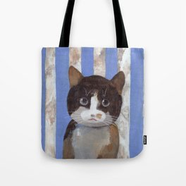 Missy or A Cat with Blue Stripes Tote Bag