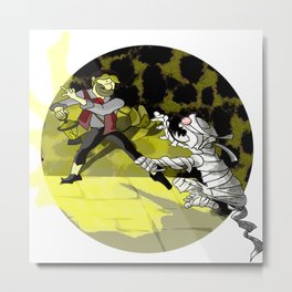 Escape from Mummy's Territory Metal Print