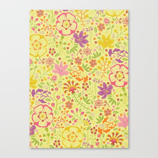 Oriental Blooms Canvas Print