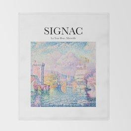 Signac - La Tour Rose, Marseille Throw Blanket