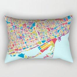 Toronto Street Map Rectangular Pillow