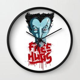 Vampiric Free Hugs Wall Clock