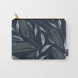 Leafy Vibes (Navy) Carry-All Pouch